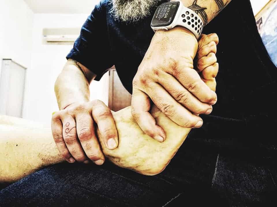 osteopatia e distorsione caviglia